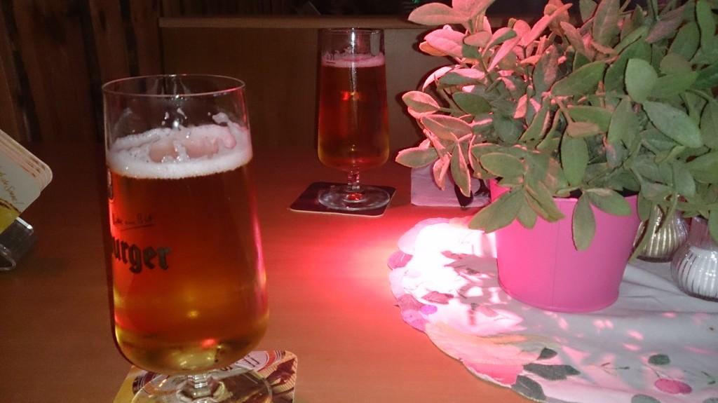 Frittiertes Bier. Nicht zu sehen: Kaltes Schnitzel
